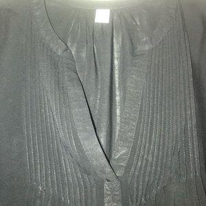 Black short sleeve top